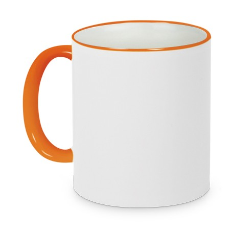 Tasse Griff/Rand Orange
