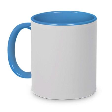 Tasse Griff/Innen Hellblau