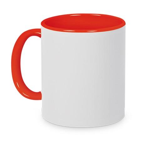 Tasse Griff/Innen Rot