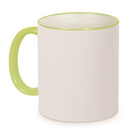 Tasse Griff/Rand Hellgrün